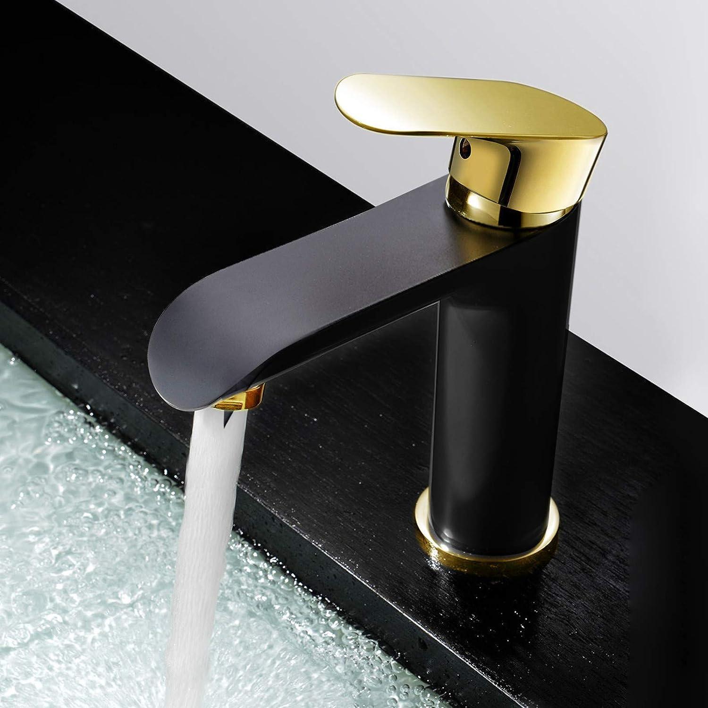 JONTON Taps Taps Taps All Copper Basin Faucet Paint Black + Titanium Hot And Cold Basin Faucet