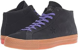 Converse One Star Pro Leather Mid Classic Shoes Black/Gum/Candy Grape : Men's 13 Medium
