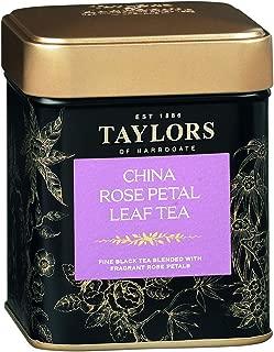 Taylors of Harrogate China Rose Petal Loose Leaf, 4.41 Ounce Tin (Pack of 2)