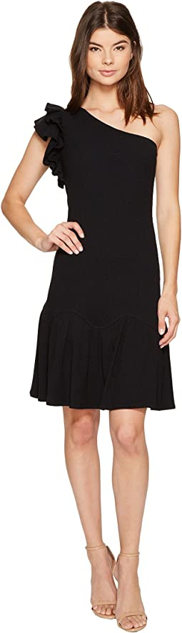 One Shoulder Rib Jersey Dress