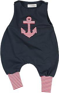 "Lilakind "" Baby Strampler Einteiler Strampelanzug Maritim Anker Unisex Gr. 62, 68, 74, 80 - Made in Germany"