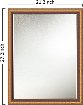 Elegant Arts & Frames Gold Black Wall Decorative Wooden Mirror 24 inch x 18 inch