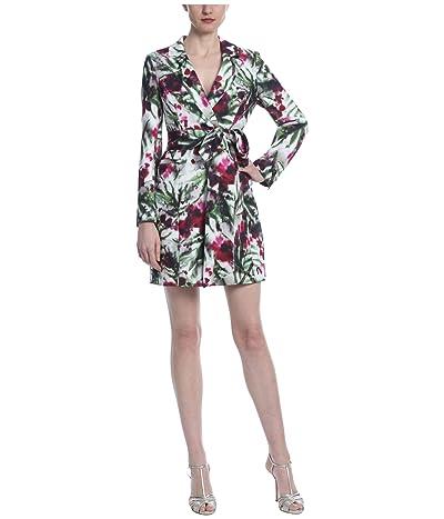 Badgley Mischka Print Suit Dress (Light Ivory/Raspberry) Women