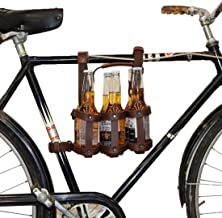 Hide & Drink, Thick Leather Beer Bottle Carrier for Bike, Straps Can Be Removed, Six Pack Holder, Biker Accessories, Handmade Includes 101 Year Warranty :: Bourbon Brown