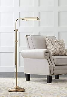 Culver Modern Pharmacy Floor Lamp LED Adjustable Aged Brass Metal Shade for Living Room Reading Bedroom Office - 360 Lighting