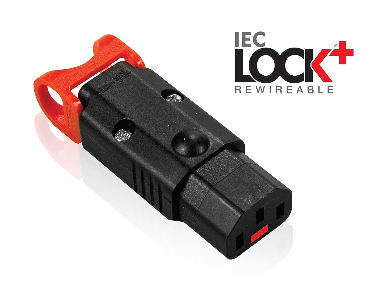 神経衰弱活気づけるスライム電源コネクタ 抜け防止機能付き IEC LOCK+ REWIREBLE