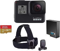$354 Get GoPro HERO7 Black - Bundle with GoPro Head Strap + QuickClip, 32GB Micro SDHC U3 Card, Spare Gopro Battery