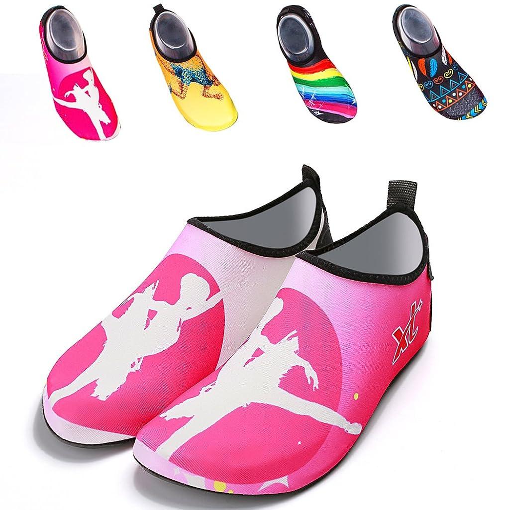 Barefoot Beach Shoes Walking Sandals Aqua Socks Quick-Dry Water Sports Shoes Yoga Socks Slip-on for Men Women Kids