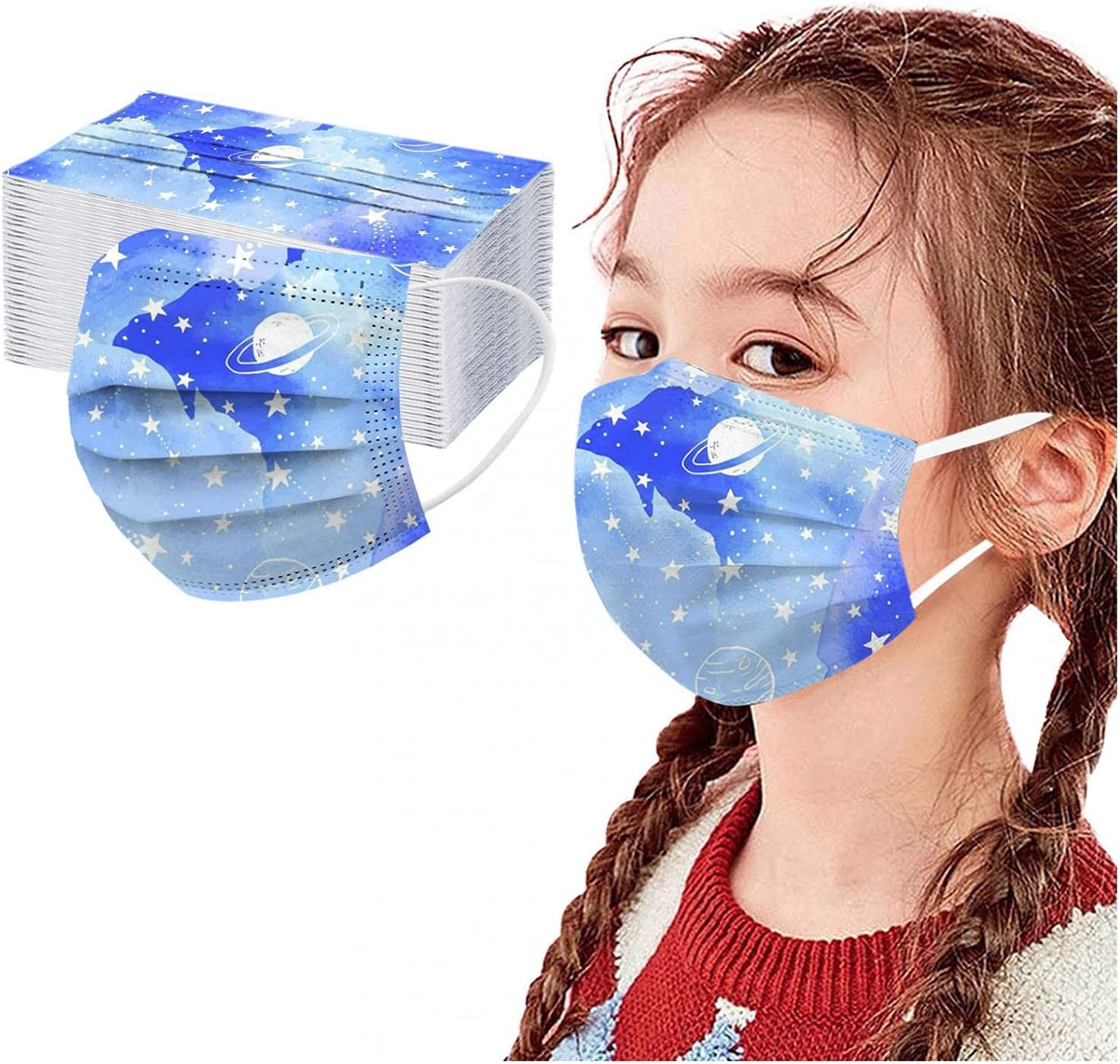 1 year warranty SUMSAYEI 50PCs Children's Disposable_Face_Cover 3-ply Safety_No 5 ☆ very popular