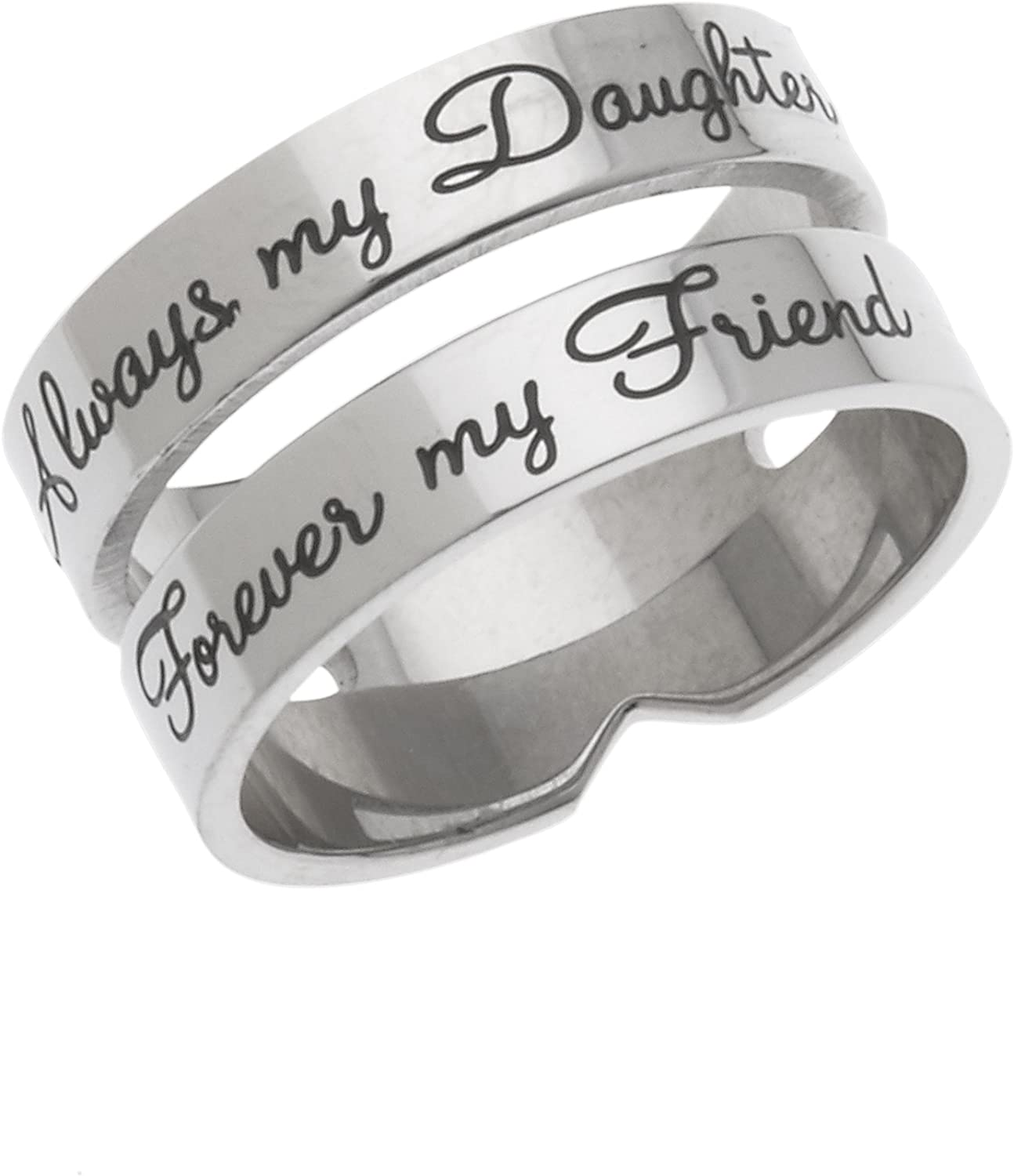 online shop Always My Daughter Forever Friend Stackable Popular brand in the world Ring Daughter's -