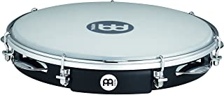 Meinl Percussion PA10ABS-BK 10-Inch ABS Plastic Pandeiro with Synthetic Head, Black