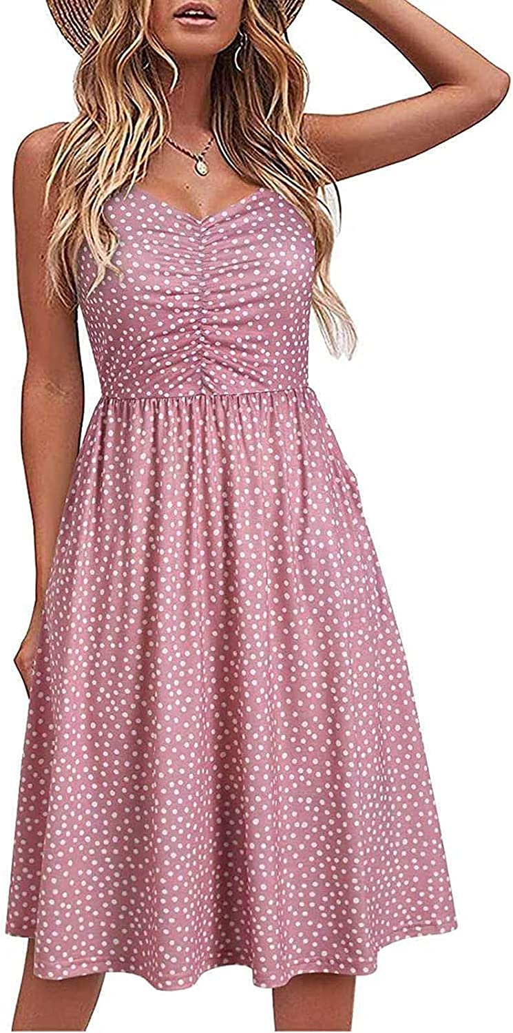 MASZONE Summer Dresses for Women, Womens Floral Print Plus Size Backless Sexy Maxi Dress Vacation Beach Sundresses