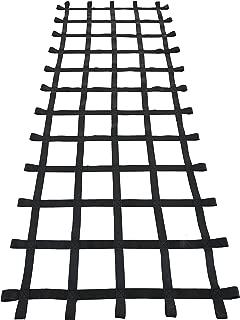 FONG 10 ft X 4 ft Climbing Cargo Net Black - Swing Set Accessories - Indoor Climbing net - Outdoor Playground Swing, Belt Swing, Playground Hanging Step Ladder