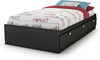 twin bed with storage black