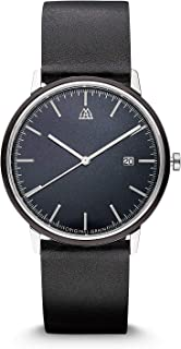 | Blackwood Stainless Steel Modern Minimal 40mm Watch | Handcrafted from African Blackwood | Scratch & Water Resistant to 5ATM | Father's Day Gift