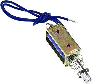 ZXYAN DC 12V Push-Pull Electromagnet Actuador Duradero Tipo de Marco Electroim/án Herramienta solenoide