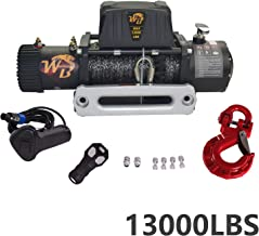 MGPRO Universal Nylon Rope 13000LB 12V 265/1 Gear RatioElectric Recovery Winch Wireless Remote Control Universal Aluminium Block for Pickup Truck 4WD JEEP SUV Van Train Boat Trailer