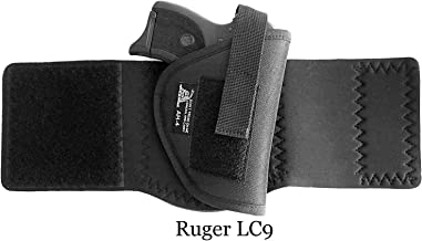 DTOM AH4 Neoprene and Nylon Ankle Holster For Ruger LC9, Diamondback DB9, Beretta 81 / 84 / 85F, Kahr CW9, Walther P22 Compact, Kel-Tec PF-9,Bersa Thunder 380, Makarov FEG PA-63, CZ-USA CZ 83 and More