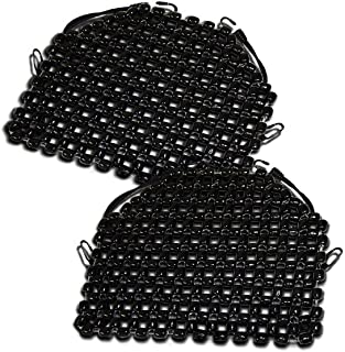 Zento Deals Double Strung Wooden Beaded Ultra Comfort Massaging Seat Cover - 2 – Pack Black Superior Quality Massaging Car Seat Cover for Ultimate Relaxation!