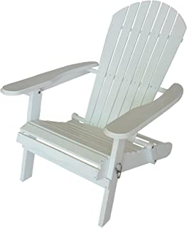 Leigh Country Folding White Adirondack Chair for Patio, Deck or Yard