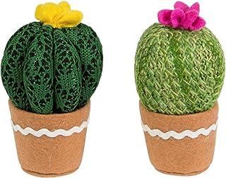 Set de dos elementos decorativos, cactus tejidos,https://amzn.to/2J2hWJ9