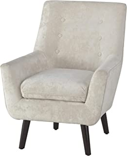 Ashley Furniture Signature Design - Zossen Accent Chair - Contemporary Style - Ivory - Tufted Back