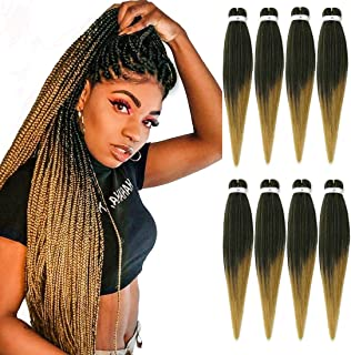 Pre stretched Braiding Hair 26inch 8 packs Hot Water Setting Professional Box Braid Yaki Texture Soft Itch Free Synthetic ...