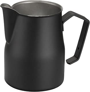 Motta Stainless Steel Professional Milk Pitcher/Jugs, 17 Fluid Ounce, Black