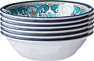 """Certified International Talavera All Purpose Bowl, 7.5"""" x 2"""", Set of 6, 7.5x2 Inches, Multicolor"""