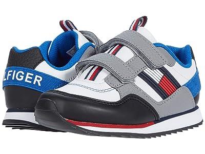 Tommy Hilfiger Kids Jax Jogger Alt (Toddler) (White Smooth/Grey Tumbled/Black) Kid