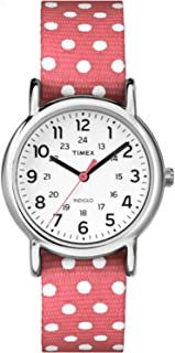 Women's Weekender Polka Dots | Pink Strap Silver-Tone Case Watch TW2P65600