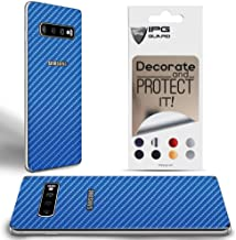 IPG for Samsung Galaxy S10 Plus Decorative Carbon Fiber Vinyl Back Protector Anti Scratch Skin Guard - 3D Surface - Bubble -Free Easy to Install (Blue Carbon Fiber (4D))