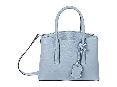 Kate Spade New York Margaux Medium Satchel (Horizon Blue) Satchel Handbags