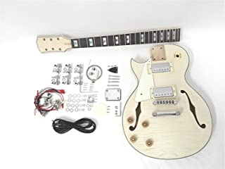 Left-Handed Semi-Hollow LP Style Electric Guitar DIY, No-Soldering 239A DIY-PBLH