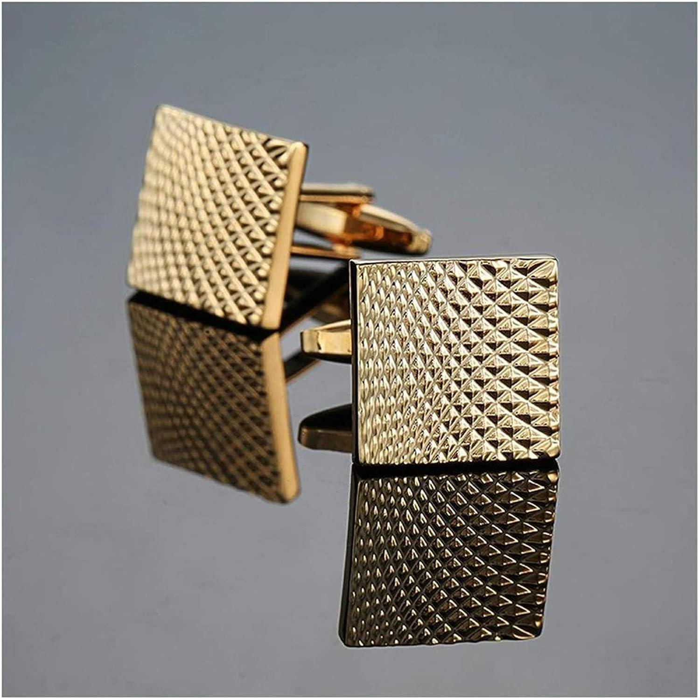 XIXINYA Men's Cufflinks Stainless Steel Craftsman Hand Carved Cufflinks Men's Cufflinks and Stud Earrings Cufflinks (Color : C)