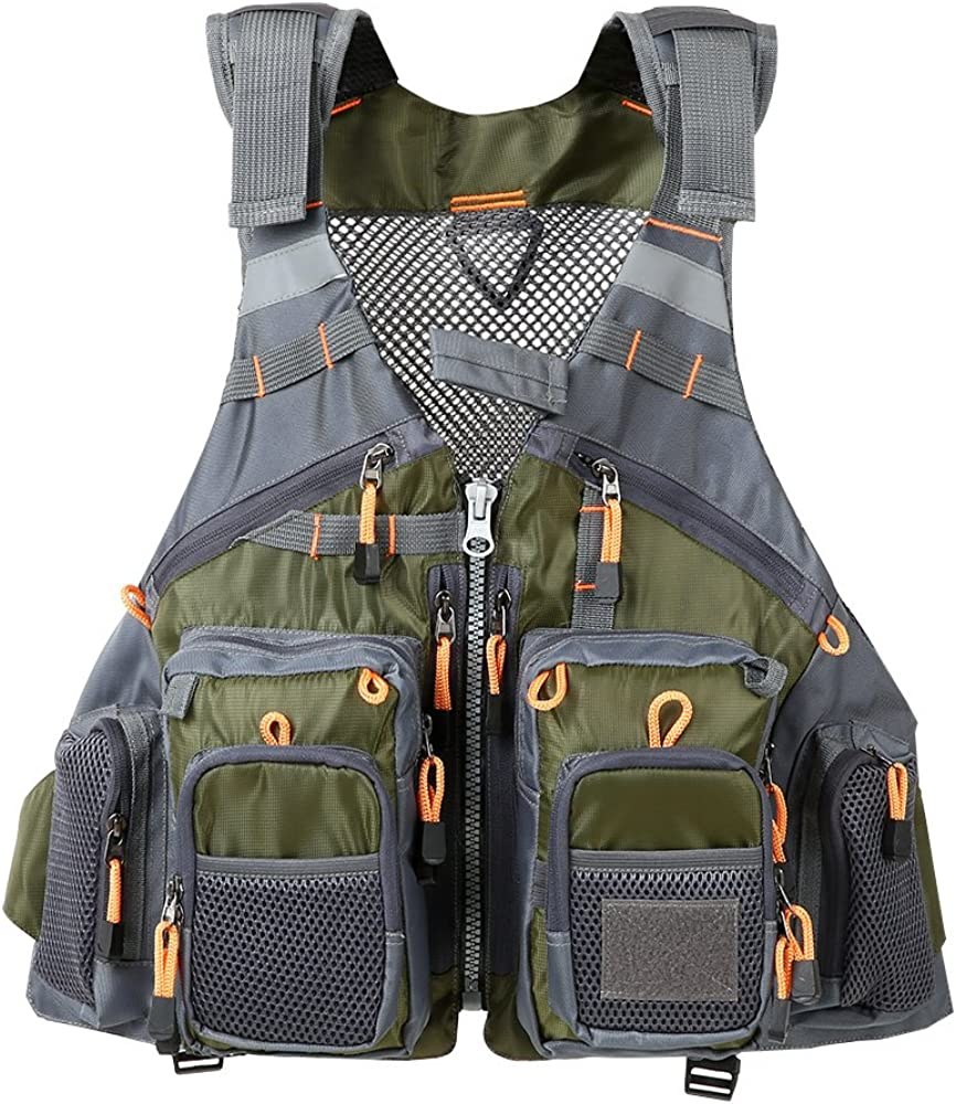 Lixada Fly Fishing Vest OFFicial site Multi-Pockets Max 70% OFF Mesh Fis Breathable Jacket