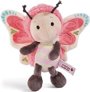 NICI 44933 Knuffelzachte knuffel vlinder, pluche, 25cm, roze/veelkleurig
