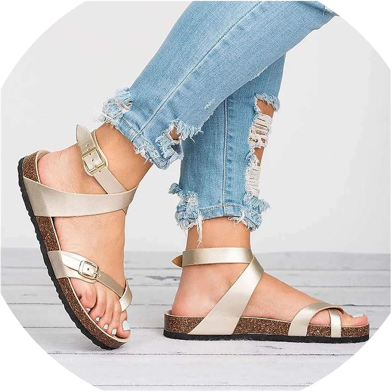 HuangKang 2019 New Summer Rome Style Cross Strap Sandal Women Ankle Roman Casual shoes