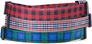 Red Black Lumberjack Plaid Dog Collar