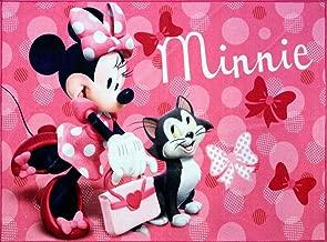 Disney Minnie Mouse Rug w/ Figaro Cat HD Digital Girls Room Decor Bedding Area Rugs 5x7, X Large, Pink