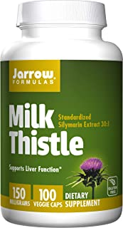 Jarrow Formulas Milk Thistle, Promotes Liver Health, 150 mg Caps, 100 Count