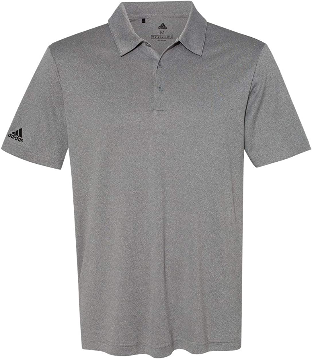 adidas Mens Heathered Sport Shirt (A240) -Black Heat -XL