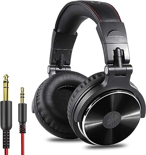 Casque DJ, OneOdio Pro10 Casque Audio Studio Professionnel, Casque Filaire, Casque de Monitoring, Son Parfait pour Sy...