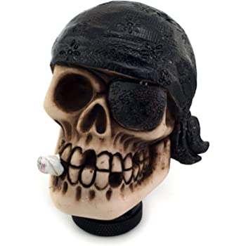 Arenbel Skull Gear Shift Knob Stick Shifting Knobs of Pirate Style fit Most Universal Manual Automatic Vehicle Red