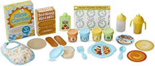 Melissa & Doug Mine to Love Mealtime Play Set for Dolls with Bottle, Pretend Baby Food Jars, Snack Pouch, More (24 pcs)