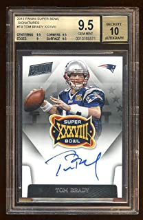 Bgs 9.5 10 Auto Tom Brady 2015 Panini Super Bowl Auto Sp /5 Oncard Autograph Wow - Panini Certified - Football Slabbed Autographed Cards