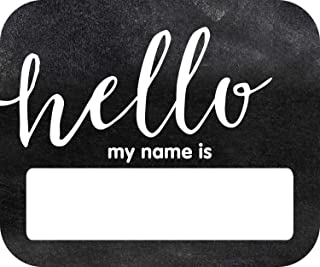Schoolgirl Style Industrial Chic Hello Name Tags (150063)