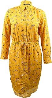 LAUREN RALPH LAUREN Womens Qadira Knee-Length Floral Print Shirtdress