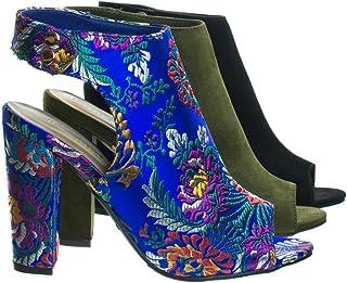 2e07415580fd Amazon.com  Bamboo - Heeled Sandals   Sandals  Clothing