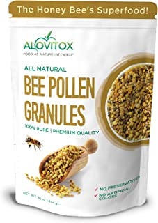 ALOVITOX Bee Pollen Granules | 100% Pure, Natural Raw Bee Pollen - Antioxidants, Proteins, Vitamins B6, B12...